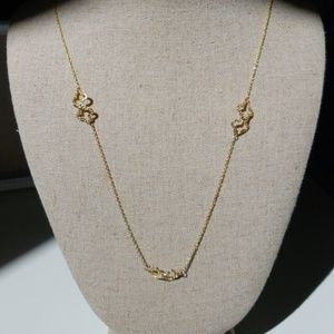 Stella & Dot Signature Clover Necklace Gold